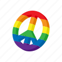 cartoon, gay, homosexual, lesbian, lgbt, peace, rainbow icon