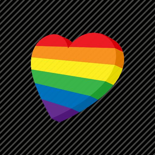 cartoon, color, gay, heart, lesbian, lgbt, rainbow icon