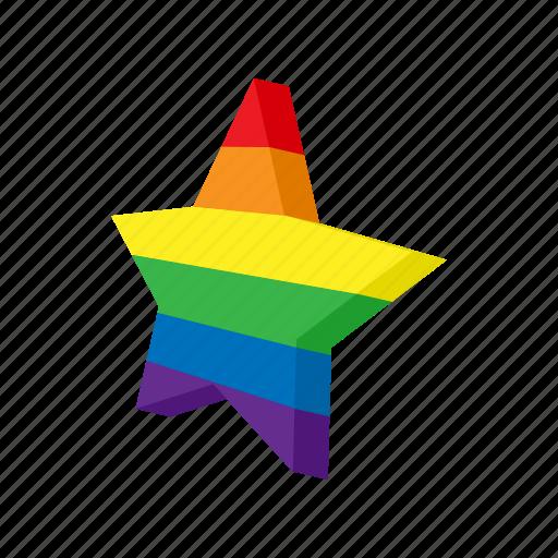 cartoon, color, gay, lesbian, lgbt, rainbow, star icon
