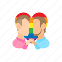 cartoon, couple, gay, homosexual, male, men, two icon