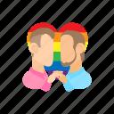 cartoon, couple, gay, homosexual, male, men, two