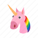 cartoon, cute, horse, lgbt, love, rainbow, unicorn icon