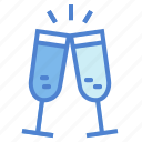 celebration, champagne, cheers, drink icon