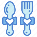 date, dinner, heart, love icon
