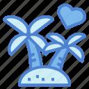 island, nature, palm, tree, tropical