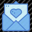 heart, letter, love, romantic icon