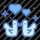 birds, heart, love, romance, valentines