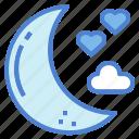 half, love, moon, night