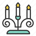 candle, candlestick, couple, heart, honeymoon, wedding icon