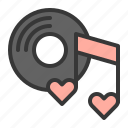 couple, heart, honeymoon, music, song, wedding icon