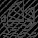 bark, barque, boat, hong kong, ship, transport, travel icon