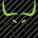 cow, horoscope, bull, zodiac, taurus, sign icon