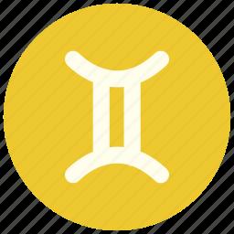astrology, gimini, horoscope, sign, twins, zodiac, zodiacs icon
