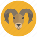 animal, aries, horoscope, ram, sheep, sign, zodiacs icon