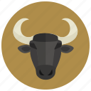 bull, horoscope, sign, taurus, zodiac, zodiacs icon