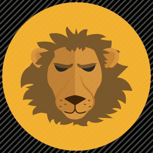 animal, horoscope, leo, lion, sign, zodiac, zodiacs icon