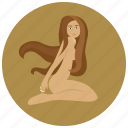 horoscope, sign, virgin, virgo, woman, zodiac, zodiacs icon