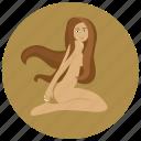 horoscope, sign, virgin, virgo, woman, zodiac, zodiacs icon