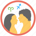 astrology, horoscope, intimacy, relationship horoscope, zodiac symbol icon
