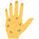 astrology, chiromancy, fortune telling, palm reading, palmistry icon
