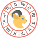 astrology chart, astrology wheel, taurus, zodiac chart, zodiac wheel icon