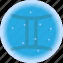 emblem, gemini, symbols, zodiac, astro