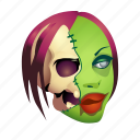 brain, dead, halloween, monster, skull, undead, zombie icon
