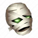 dead, halloween, monster, mummy, undead, zombie icon