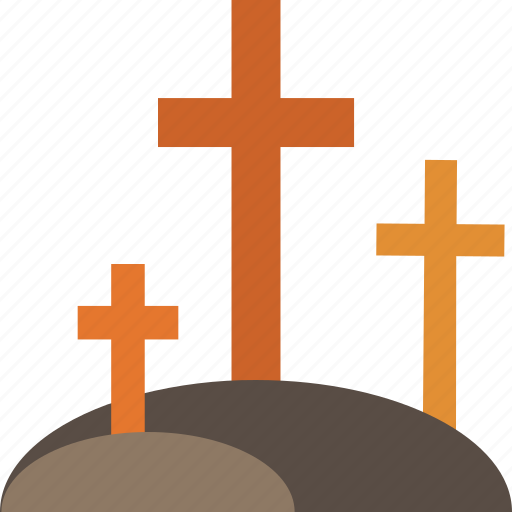 cemetery, cross, graveyard, halloween, tomb icon