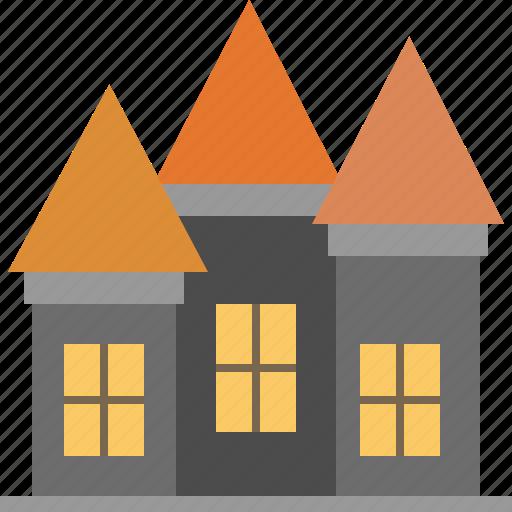 castle, halloween, horror, house, scary icon
