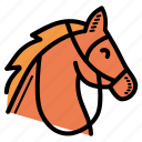 animal, horse, race, riding icon