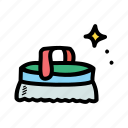brush, clean, scrub, wash icon