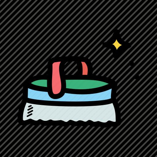 brush, clean, scrub, wash icon