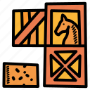 farm, hay, horse, stable icon