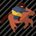 horse, jockey, race, riding