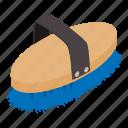 bristle, brush, hair, isometric, logo, object, polish