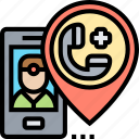 emergency, call, hotline, rescue, team icon
