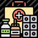 first, aid, emergency, medication, treatment