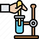 test, tube, chemical, reaction, experiment
