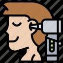otoscope, hearing, ear, examination, equipment