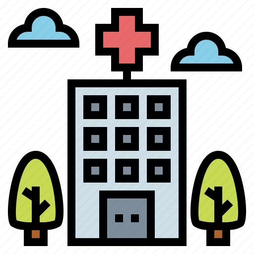 architectonic, clinic, health, hospital icon