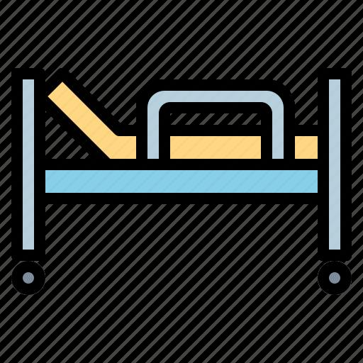 bed, hospital, medical, rest icon