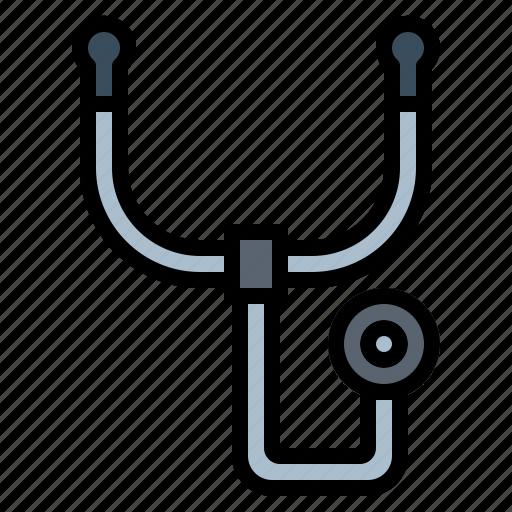 doctor, health, phonendoscope, stethoscope icon