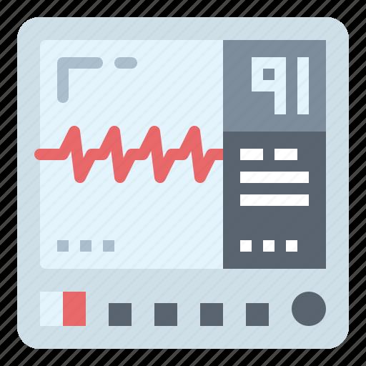 cardiogram, electrocardiogram, monitor, mornitor icon
