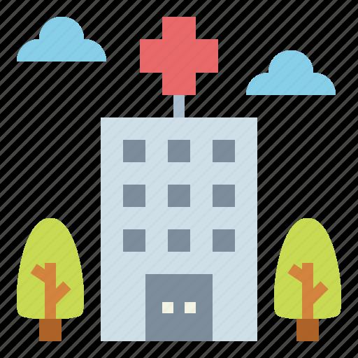architectonic, clinic, health, hospital icon