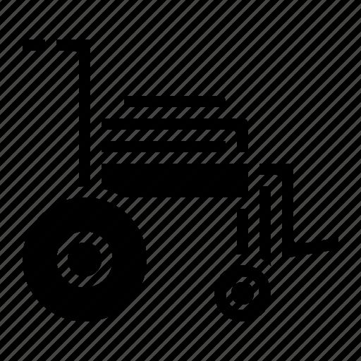 emergency, medical, sit, wheelchair icon
