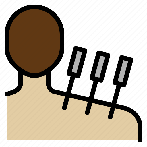 acupuncture, body, clinic, heal, medical, needle, pain icon