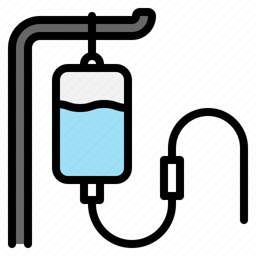 bag, hospital, medical, medicine, patient, saline, transfuse icon