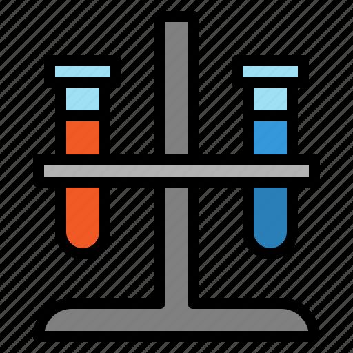 biology, flask, hospital, laboratory, science, test, tube icon