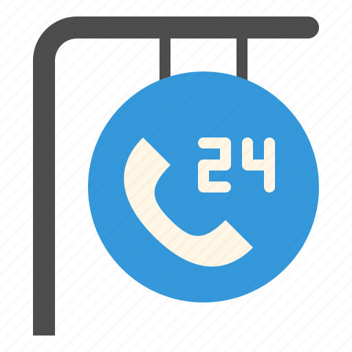 Call, customer, hours, phone, service, support icon - Download on Iconfinder